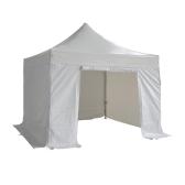 3X3m ホワイト折りたたみテント 520 g/50 mm のアルミニウム管 m ² 完成 + 側布の 4 個セット