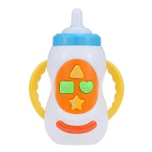 Coolplay Musical Bottle Feeding Toy with Lights Sounds Songs Intellecture Enlightment Toy for Baby White