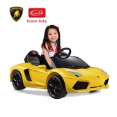 Rastar Kids 6V Electric Ride on Toy Car Lamborghini Aventador LP700-4 Four Wheel Vehicle Parent Remote Control Orange