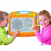 TOMY 6555 Megasketcher Classique Magnetic Drawing Board Educational Toy Erasable Writing Drawing Board With 4 Magic Stampers