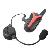 X3 Plus Bluetooth Intercom Motorcycle Motorbike Helmet Interphone 1-3KM Headset Radios Remote PTT Waterproof Hands-free Motorcyclist Skier