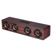 W8 Red Wood Grain Bluetooth Speaker Bluetooth 4.2 Four Louderspeakers Super Bass Subwoofer Hands-free with Mic 3.5mm AUX-IN TF Card 3000mAh Battery for Home