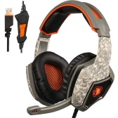 SADES SA917 USB Wired Gaming Headset with LED Light Camouflage