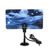 w16PH08 Indoor Digital TV Antenna 35dBi High Gain Full HD 1080p VHF / UHF DVB-T-Aerial IEC Connector for DTV / TV