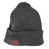 Wireless Bluetooth Beanie Stereo Headphone Detachable Winter Hat Grey