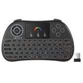 2.4GHz RGB Colorful Backlit Wireless Keyboard with Touchpad Mouse Remote Control for Android TV BOX HTPC PC