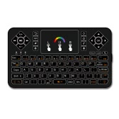 Q9 2.4G RF Wireless Keyboard Blacklit Keyboard w/ Touchpad Mouse Combo Multimedia Keys Handheld Remote Control for Android TV BOX PC Smart TV HTPC Tablet Smartphone