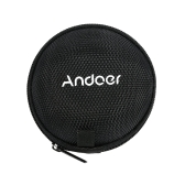 Andoer Headphone Box Mini Portable Earphone & Headset Case Box Portable MP3 Pouch Bag with Metal Chain Hook