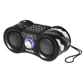 TIVDIO FM Radio Digital Stereo Speaker Dual Loudspeaker Super Bass USB Disk TF Card 3.5mm AUX IN Camouflage Color