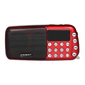Portable FM Radio Digital Speaker MP3 Player LED Display TF Card USB AUX-IN U Disk Red