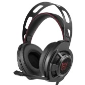 ONIKUMA Gaming Headset 3.5mm Stereo Headphones w/Retractable Microphone Volume Control Noise Canceling LED Lights for PC