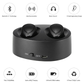 K2 True Wireless Bluetooth Headphone In-ear Stereo Bluetooth 4.1 Sport Headset Music Hands-free w/ Mic 12000 mAh Emergency Power Bank for Running Gym Exercise Business