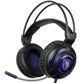 SADES SA-805 3.5mm Gaming Headsets with Microphone Noise Cancellation Music Headphones Black-blue for PS4 Laptop Tablet PC Mobile Phones