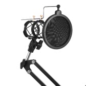 At First Sight Recording Microphone Stand  Microphone Suspension Boom Arm Stand with Phone Clamp Microphone Clamp Pop Filter for Broadcasting Studio