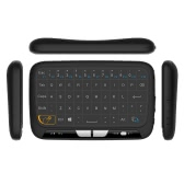H18 2.4GHz teclado inalámbrico Touchpad completo Teclado de control remoto Teclado Modo de ratón con gran toque Pad Vibración de retroalimentación para Smart TV Android TV Box PC portátil