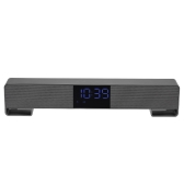 Bluetooth 4.2 Soundbar Speakers Home Theater Super Bass Subwoofer Hands-free Support AUX IN TF Card FM Radio U-Disk Read Music Play LED Display Screen Time Clock for TV PC Tablets Smart Phones