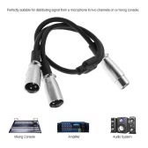 XLR Audio Cable Splitter XLR Female To Dual XLR Male Microphone Cable Mic Cable 0.5m/1.6ft for Microphone Mixer Mixing Console