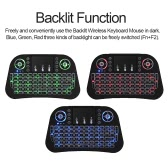 2.4GHz Wireless Keyboard LED Backlit with Touchpad Mouse Remote Control for Android TV BOX HTPC PC