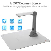 M500C Document Scanner Portable High Speed Document Camera Scanner (5 Mega-pixel) High Definition Image Capture Device Video Record LED Light for Files Photos Real Objects