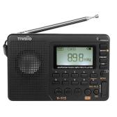 TIVDIO V-115 FM/AM/SW Radio Multiband Radio Receiver Black
