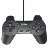 Lightweight Black Wired Joystick Gamepad