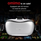 Omimo Immersive Smart Mobile Theater 3D Glasses Headset 1080P Resolution Display Head-Mounted Intelligent Mobile Cinema Headset with Wired Headphone HD Micro USB port TF Card Slot Headband