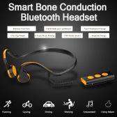 Portable Bone Conduction Headphone Bluetooth 4.1 Stereo Headsets Waterproof Sport Earphones Hands-free w/ Mic Indoor Outdoor Use Headphone for Android iOS Smart Phones Tablet PC Notebook