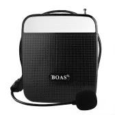 BOAS BQ-800 loudspeaker High Power Speaker Voice Amplifier Support FM Radio MP3 Player w / Microphone Black For Teachers Tour Guide Sales Promotion