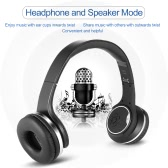 SODO MH1 2 in 1 Bluetooth Headphone Twist-out 3W*2 Speaker Bluetooth 4.2 Headset NFC FM Radio TF card Aux-in Hands-free with Mic - Black