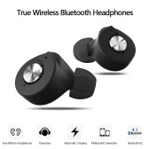 Yuer True Wireless Bluetooth Headphones Bluetooth 4.1 In-ear Stereo Deep Bass Headset  Hands-free with Mic Earphones Power Bank for Business Gym Black