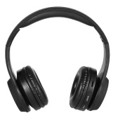 Bluetooth Headphones On Headsets Bluetooth 4.2 TF Card 3.5mm AUX-IN Port FM Radio for iPhone Samsung LG Bluetooth-enabled Devices Black
