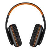KOTION EACH B3506 Wireless Bluetooth Stereo Headphone Bluetooth 4.1 CSR 8635 Over-ear Foldable Gaming Headset with Mic 3.5mm Cable for PS4 PC Smart phones Computer Orange with Black
