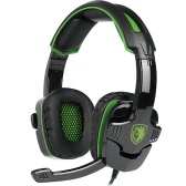 SADES SA-930 3.5mm Gaming Headsets with Microphone Noise Cancellation Music Headphones Black-green for PS4 New Xbox One Laptop Tablet PC Mobile Phones