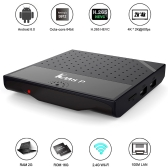KM8P Android 6.0 TV Box Amlogic S912 Octa Core 64bit 2G + 16G H.265 UHD 4K VP9 3D Mini PC WiFi AirPlay Miracast DLNA EU Plug