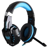 KOTION EACH G9000 3.5mm Gaming Headphone Game Headset Noise Cancellation Earphone with  Mic LED Light Black-blue for PS4 Laptop Tablet Mobile Phones