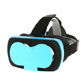 VR MINI Virtual Reality Glasses 3D VR Box Headset 3D Movie Game Glasses Head-Mounted Blue for 4.5 to 5.5 Inches Android iOS Smart Phones