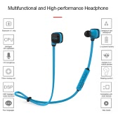 CCK KS Bluetooth 4.1 Headphones Wireless Stereo In-ear Sport Sweatproof Headsets Noise Cancelling Music Earphones -Blue