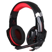 KOTION EACH G9000 3.5mm Gaming Headphone Game Headset Noise Cancellation Earphone with  Mic LED Light Black-red for PS4 Laptop Tablet Mobile Phones