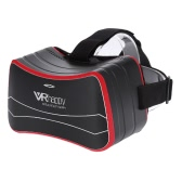 VRhappy V7 Virtual Reality Glasses All in One Machine 2D / 3D Immersive Headset Smart Video Glasses Android 4.4 1G / 16G 2.4G Wi-Fi Bluetooth 4.0 Intelligent Mobile Theater w/ USB port TF Card Slot Black with Red