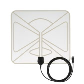 HDTV Antenna-50 Miles Range  Amplified Digital Indoor High Gain Homeworx Antenna -10ft Coax Cable US Plug Transparent