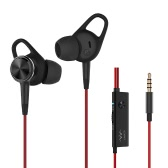 Linner Earbuds In-ear Active Noise Cancelling Headsets Music Earphones Dynamic Crystal Clear Sound -Red
