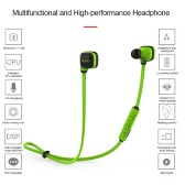CCK KS Bluetooth 4.1 Headphones Wireless Stereo In-ear Sport Sweatproof Headsets Noise Cancelling Music Earphones -Green