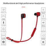 CCK KS Bluetooth 4.1 Headphones Wireless Stereo In-ear Sport Sweatproof Headsets Noise Cancelling Music Earphones -Red