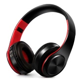 4 in 1 Wireless Bluetooth 4.0 Headsets MP3 Player TF Card FM Radio 3.5mm Wired Earphone-Red
