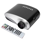 MINI LED Projector 120 lms 480x320 Pixels  HD VGA USB AV support 1080P -US Plug