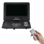GKNUO ADW930 9 Inch DVD Player Digital Multimedia Player Support U Drive Play & Card Reader FM / TV / Game Function Black EU Plug