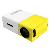 FW1S YG300 LED Projector 400 Lumens 320 * 240 1000 : 1 USB HD AV Micro SD Port- US Plug