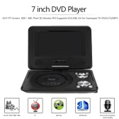 RD-806 7 inch DVD Player 16:9 TFT Screen  800 * 480  Pixel 3D Movies FM Supports SD/USB/ AV for Gamepad TV DVD / CD / MP3 EU Plug