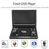 RD-998 9 inch DVD Player 16:9 TFT Screen  800 * 480  Pixel 3D Movies FM Supports SD / USB / AV for Gamepad TV DVD / CD / MP3 EU Plug