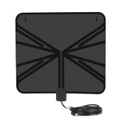 LAN-1040 Amplified HDTV Antenna Indoor Digital TV Antenna 50 Mile Range with Power Supply Amplifier for HDTV / DTV F Connector US Plug